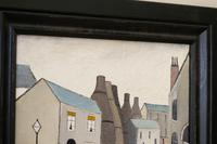 Naive Industrial Street Scene Oil on Board by Walker Scott (6 of 9)