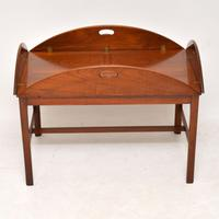 Antique Mahogany Butlers Tray Coffee Table (6 of 10)
