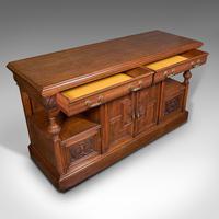 Large Antique Dresser Base, Scottish, Oak, Buffet, Server, Late Victorian, 1880 (7 of 12)