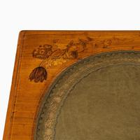Victorian Walnut Marquetry Writing Table attributed to Edward Holmes Baldock (4 of 17)