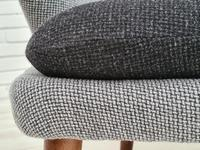 "Danish Sofa, Kurt Olsen Model 220 ""Banana"", Completely Renovated, 60s, Teak, Furniture Wool (13 of 15)"