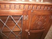 Carved Oak Bookcase with Cupboards (2 of 3)