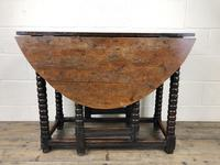 Early 18th Century Yew & Fruitwood Gateleg Table (10 of 12)