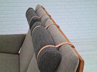 Børge Mogensen sofa, model 2252, completely renovated, furniture wool, 70s (8 of 20)
