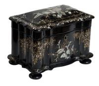 Papier Mache Tea Caddy with Mother of Pearl (6 of 6)