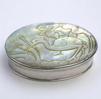 Fine European & Chinese Silver & Mop Carved Novelty Snuff Box 17th/18th Century (5 of 12)