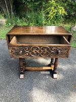 Antique Carved Oak Hall Side Table (2 of 11)