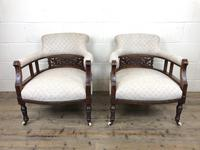 Pair of Victorian Mahogany Tub Chairs (4 of 17)
