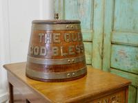 "Royal Navy ""Grog Tub"", Oak and Brass Sailor's Rum Barrel (8 of 9)"