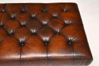 Antique Victorian Style Deep Buttoned Leather Stool (7 of 8)