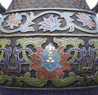 Late 19th Century quality Chinese bronze cloisonne vase (6 of 7)
