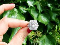 2.49ct Diamond & Platinum Dress Ring - Art Deco c.1930 (2 of 9)