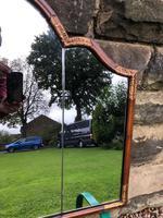 Antique Walnut & Parcel Gilt  Wall Mirror (3 of 6)