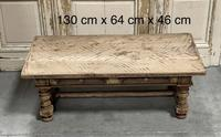 Rustic French Bleached Oak Coffee Table with 2 Drawers (18 of 19)
