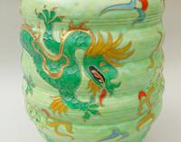 Charlotte Rhead Tube Lined Vase Manchu Dragon Design (8 of 9)