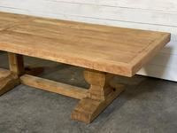 Enormous French Bleached Oak Farmhouse Dining Table (27 of 38)