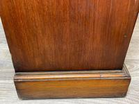 English Small Regency Style Dwarf Recessed Mahogany Open Bookcase (32 of 44)