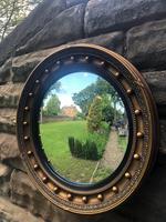 Antique Gilt Framed Convex Wall Mirror (4 of 5)