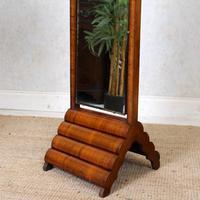 Art Deco Cheval Mirror Walnut (2 of 14)