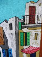 Oil on Board the Court Yard Artist Spina 1960s (7 of 10)
