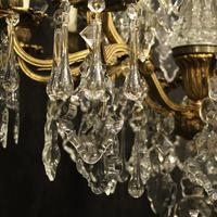 French Gilded Bronze 11 Light Antique Chandelier (5 of 10)
