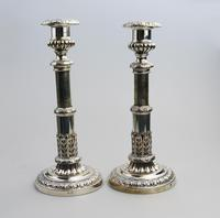Mathew Boulton - Old Sheffield Silver Plate / Fused Plate Telescopic Candlesticks c.1800 (2 of 8)