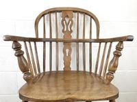 Antique Beech & Elm Windsor Armchair (4 of 7)