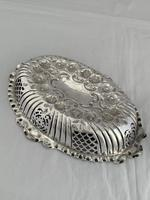 Victorian Antique Silver Dish or Bowl 1892 Elkington Sterling Silver Fruit Dish (6 of 9)