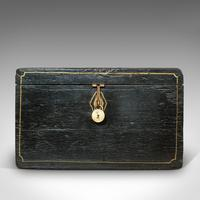 Antique Ebonised Carriage Chest, English, Pine, Tool Trunk, Victorian c 1850 (9 of 12)