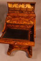 "Superb Victorian Burr Walnut ""Jack in a Box"" Davenport (16 of 16)"