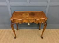 Serpentine Fronted Queen Anne Style Burr Walnut Side Table (5 of 16)