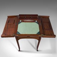 Antique Writing Desk, English, Mahogany, Side, Correspondence Table, Edwardian (11 of 12)