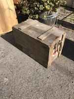 Vintage Wooden Crate Box with Red Cross Logo (4 of 10)