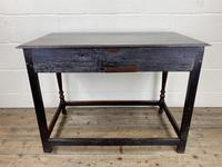 Antique Oak Two Drawer Side Table (8 of 14)