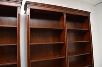Pair of Large Georgian Style Mahogany Open Bookcases (10 of 11)
