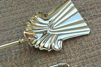 Quality Victorian Brass Fire Irons Companion Set Tongs Poker Shovel (6 of 9)