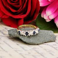 The Vintage 1979 Sapphire & Diamond Half Hoop Ring (4 of 5)
