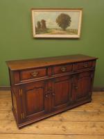 Solid Georgian Style Oak Dresser Base Sideboard by Titchmarsh & Goodwin (20 of 22)