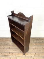 Early 20th Century Antique Oak Bookcase with Four Shelves (7 of 10)