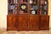 George 3 mahogany breakfront bookcase library circa 1800 (3 of 9)