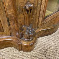Spectacular Burr Walnut Serpentine Antique Credenza (3 of 7)