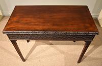 18th Century Carved Mahogany Tea Table (3 of 7)