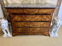 19th Century Burr Walnut Marble Top Commode (3 of 8)