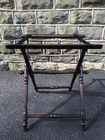 Antique Oak Butlers Tray Stand (3 of 5)