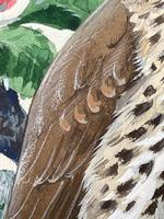 """Watercolour """"Chirping Song Thrush Bird"""" Signed Charles Frederick Tunnicliffe OBE RA 1901-1979 (15 of 35)"""