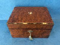 Victorian Burr Cedar Jewellery Box