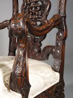 Remarkable Pair of Late 19th Century Walnut Throne Chairs (10 of 10)