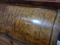 Biedermeir Mahogany Veneered Cylinder Bureau Desk 19th Century (6 of 14)