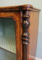 Antique Victorian Burr Walnut Display Cabinet (6 of 9)
