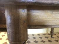 Antique Square Pine Rustic Kitchen Dining Table (4 of 7)